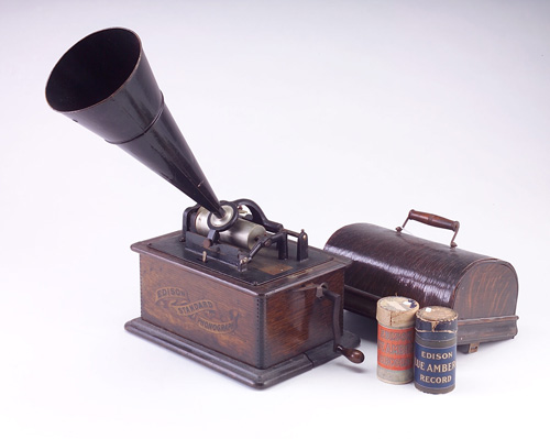 These Are Typical And Popular Cylinder Phonograph Players